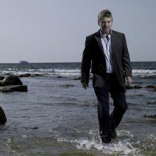 Kenneth Branagh in una foto promozionale della serie Wallander