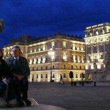 Caterina Vertova e Lando Buzzanca in una scena della serie Io e mio figlio - Nuove storie per il commissario Vivaldi