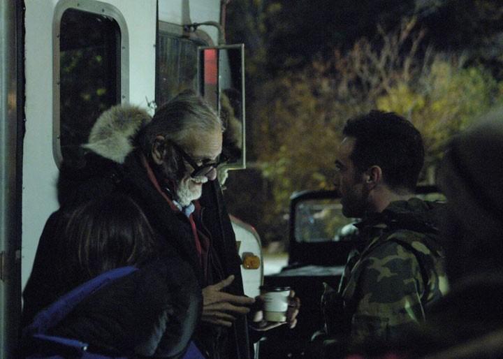 Il Regista George Romero Sul Set Del Film Le Cronache Dei Morti Viventi 124247