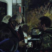 Il regista George Romero sul set del film Le cronache dei morti viventi