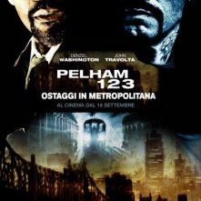 La locandina italiana di Pelham 1-2-3: Ostaggi in metropolitana