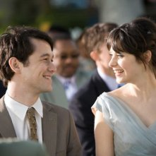 Joseph Gordon-Levitt e Zooey Deschanel in una scena del film (500) Days of Summer
