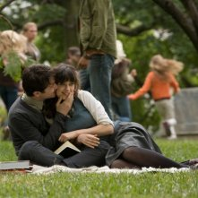 Joseph Gordon-Levitt e Zooey Deschanel in una sequenza del film (500) Days of Summer