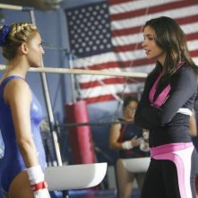 Cassie Scerbo e Josie Loren in una scena dell'episodio Where's Marty? della serie  Make It or Break It