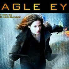 Un wallpaper del film Eagle Eye, con Michelle Monaghan