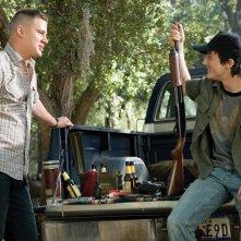 Una scena del film 'Stop Loss' con Channing Tatum (Sergente Steve Shriver) e Alex Frost (Shorty Shriver)