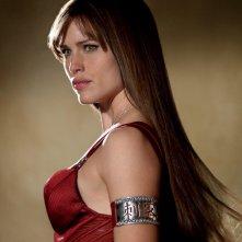 Jennifer Garner con un'espressione seria in una scena del film Elektra