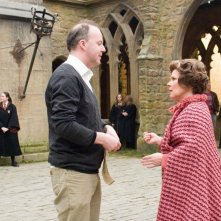 David Yates e Imelda Staunton sul set del film Harry Potter and the Order of the Phoenix