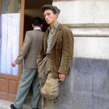 Giovanbattista Torregrossa sul set de Il Capo dei Capi, nel quale ha interpretato il giovane Totò Riina.