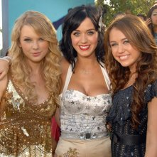 Taylor Swift, Katy Perry e Miley Cyrus agli MTV Movie Award 2008