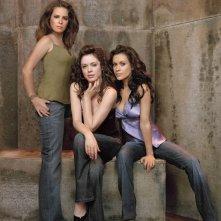 Le tre P: (Piper)Holly Marie Combs, (Paige)Rose McGowan e (Phoebe)Alyssa Milano per la season 8 di Streghe