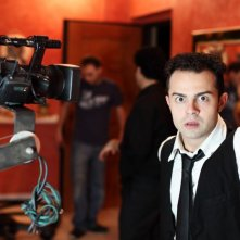 Andrea De Rosa sul set di Ganja Fiction
