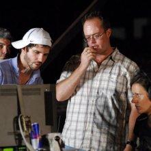 Il regista Jonathan Levine (con il berretto) sul set del film The Wackness