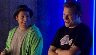 Adam Sandler e Seth Rogen in una scena della commedia Funny People