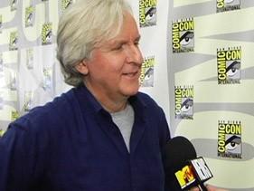 Comic-Con 2009: James Cameron durante la presentazione del suo film Avatar.