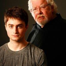 Daniel Radcliffe (Alan Strang) e Richard Griffiths (Martin Dysart) in una foto promo dello spettacolo teatrale Equus