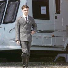 Il giovane attore Daniel Radcliffe sul set del film My Boy Jack