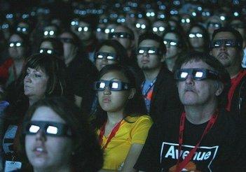 Il pubblico del Comic-Con di San Diego 2009 durante la preview di Avatar, il film di James Cameron