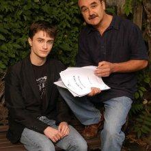 Una foto dell'attore e sceneggiatore Rudyard Kipling e di Daniel Radcliffe per il film My Boy Jack