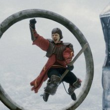 Rupert Grint durante una partita di Quidditch in un'immagine del film Harry Potter e il principe mezzosangue