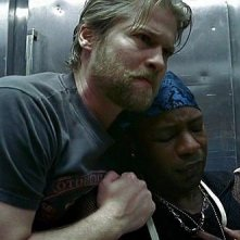 Todd Lowe e Nelsan Ellis in una scena dell'episodio 'Hard-Harted Hannah' della serie tv True Blood