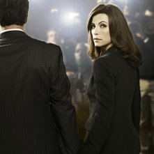 Julianna Margulies in un momento della serie The Good Wife
