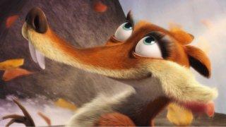 Un primo piano di Scrattina in una scena del film d'animazione 'Ice Age: Dawn of the Dinosaurs'