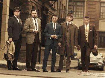Il cast della stagione 3 di Mad Men in una foto promozionale