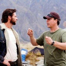 Hugh Jackman e il regista Gavin Hood sul set del film 'X-Men Origins: Wolverine'