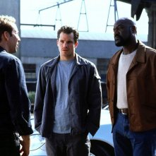 Nicolas Cage, Timothy Olyphant e Delroy Lindo in una sequenza del film Fuori in 60 secondi