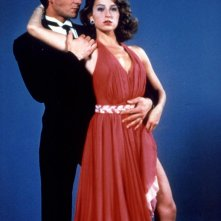 Patrick Swayze e Jennifer Grey in una foto promozionale per Dirty Dancing