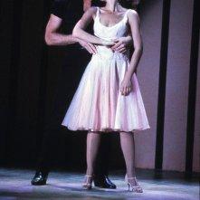 Patrick Swayze e Jennifer Grey in una scena classica di Dirty Dancing
