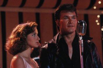 Patrick Swayze(Johnny Castle) e Jennifer Grey(Baby) in una scena del film Dirty Dancing