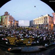 Un'immagine suggestiva della Piazza Grande di Locarno