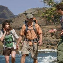 Milla Jovovich, Steve Zahn e Timothy Olyphant in una scena del film A Perfect Getaway