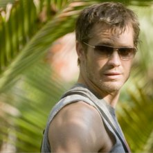 Timothy Olyphant in una scena del film A Perfect Getaway