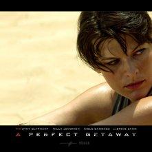 Un wallpaper del film A Perfect Getaway con Milla Jovovich