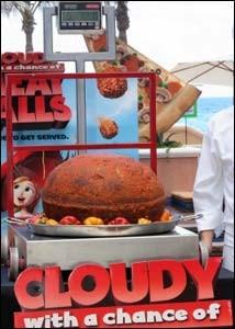 Cancun, Messico: l'enorme polpetta da Guinness dei Primati che è stata cucinata per promuovere il film Piovono Polpette.