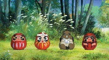 Un'immagine del film Pom poko di Isao Takahata