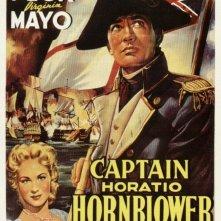 La locandina francese del film Le avventure del capitano Hornblower
