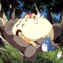 Un wallpaper del film d'animazione Il mio vicino Totoro di Hayao Miyazaki