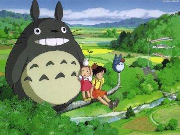 Un wallpaper del film Il mio vicino Totoro di Hayao Miyazaki