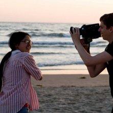 Charlyne Yi e Michael Cera in una scena del film Paper Heart
