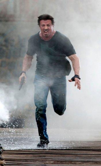Sylvester Stallone in una scena di The Expendables