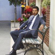 Ed Quinn in una foto promozionale della stagione 3 della serie televisiva Eureka