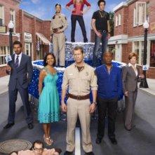 Il cast della stagione 3 di Eureka in una foto promozionale
