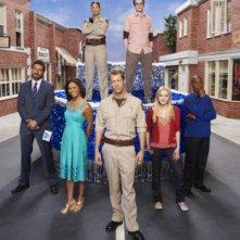 Una foto promozionale del cast della stagione 3 di Eureka
