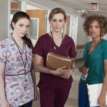 Michelle Trachtenberg, Taylor Schilling e Jaime Lee Kirchner in una foto promozionale di Mercy