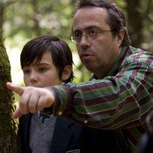Il regista Jaco Van Dormael sul set del film Mr. Nobody