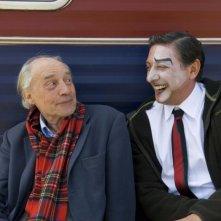 Il regista Jacques Rivette e Sergio Castellitto sul set del film Questione di punti di vista